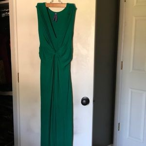 Emerald Maternity Maxi Dress/Gown